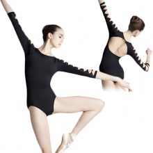 Geometric Sleeve Leotard