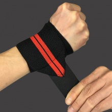 Weight Lifting Striped Wrist Wraps