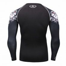 Printed Sleeves Compression Top